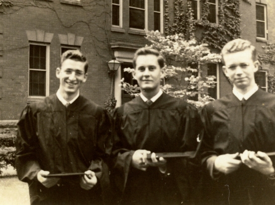 Grandpa Bob Lessiack at his graduation from Bucknell University in 1942. Photographer unknown.
