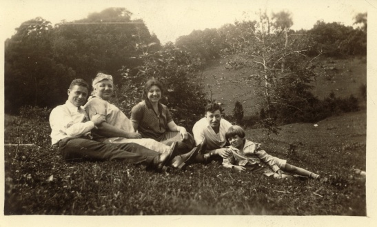 A picnic, date and photographer unknown. The little boy in the foreground in my grandfather, Robert Lessiack. I believe the two men are Margaret's brothers, but I'm not sure which ones. They are for sure not Ernst.