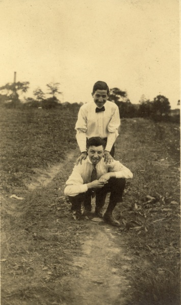 Ernst with the same boy pictured above, date and photographer unknown.