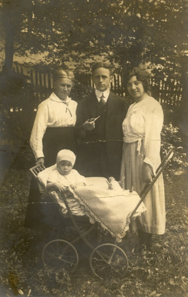The back of the photo says July 1922, Harz Mts, Germany. Postcard to Mrs. F. Bielitz (no address). The baby is my grandfather, Robert Lessiack.
