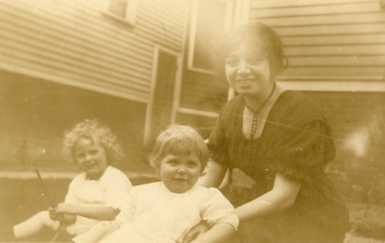 Margaret with some happy children I can't identify. Date and photographer unknown.