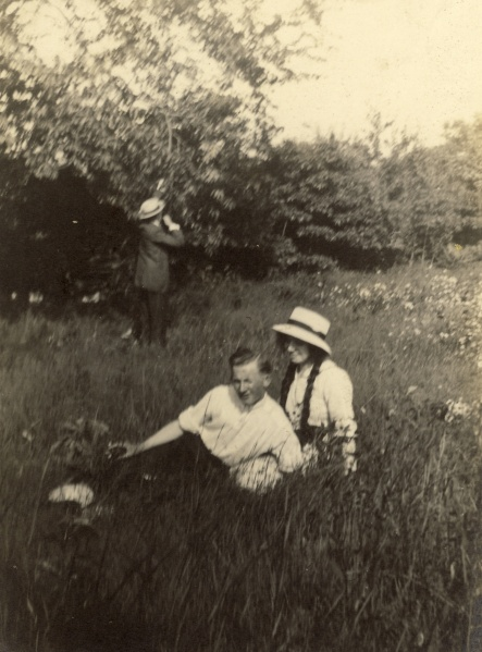 "The back of the photograph says, ""Martin and Myself, Bellwood Park, June 30, 1912"""