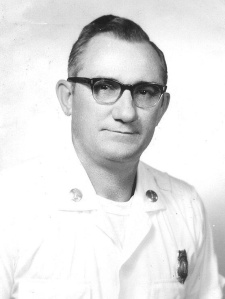 Joseph Stabler, my grandfather, and a Lieutenant fire fighter.