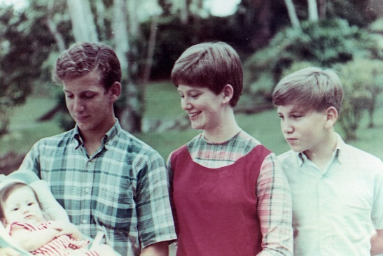 Baby Moi, Lorin Lessiack, Susan Lessiack Stabler, and John Lessiack, Balboa Heights, Canal Zone, 1967.