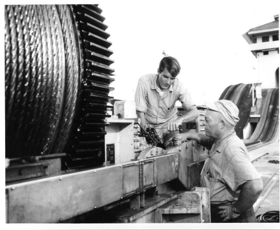 Ron Meyer as a young Panama Canal apprentice.