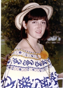 Also, like any good CZ girl-brat, I put up with having a Pollera portrait taken per my mother's fond wishes. Don't I look happy about it?Traditiooooon...Tradition! Traditiontiooooooooooooooon!