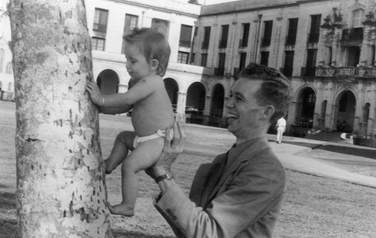 Grandpa Bob and my mother Susan Lessiack Stabler. Palm trees are very special to CZ kids.