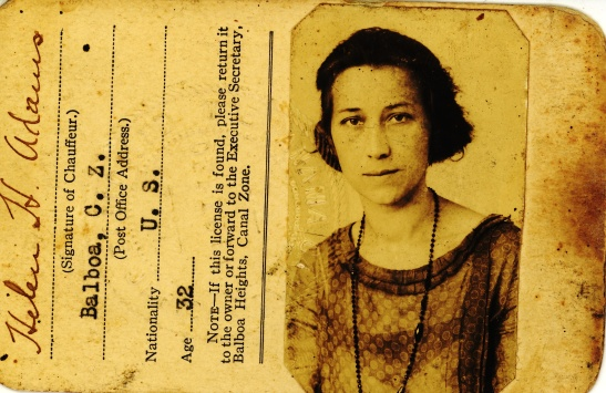 Mama Helen's Canal Zone driver's license from TBD.