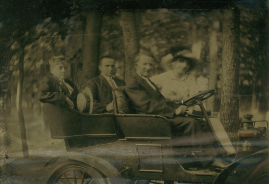 "Same people as in some of the ""Martin"" photos. This is actually a picture printed on metal (a tintype?)"