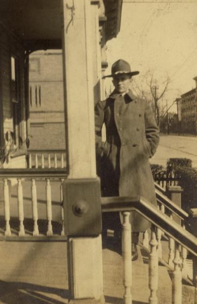 My great-grandpa Leo in 1918. Photographer unknown.