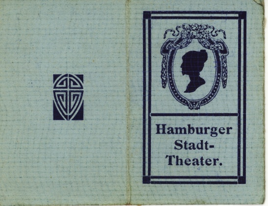 Work badges from Stadt-Theater of Hamburg 1907 - 1913