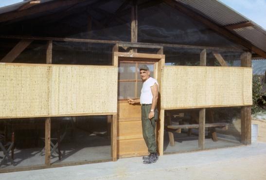 Bob Robertson's quarters in Vietnam.