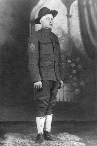 My great-grandfather, Peter Paul Marak, in his WWI uniform. Date and photographer unknown.