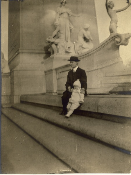 "Bruno and Wally in ""Central Park, New York, 1914"" according to the back of the photo."