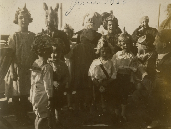 """""""Children's party on SS Westphalia en route to Germany, June 16, 1924'"""