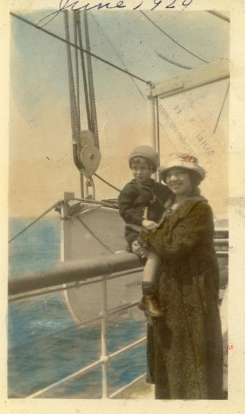 """""""En route to Germany on SS Westphalia, June 8, 1924"""""""