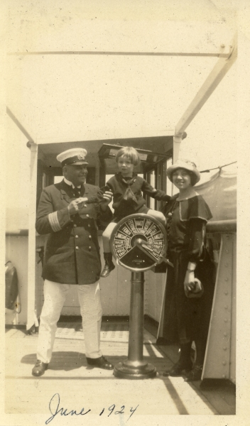 """En route to Germany on SS Westphalia, June 8, 1924"" Could this be the famous Capt. Buch? I have several other pictures of this guy"