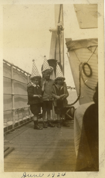 """On SS Westphalia en route to Germany, June 17, 1924"""