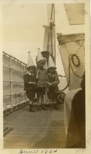 """""""On SS Westphalia en route to Germany, June 17, 1924"""""""