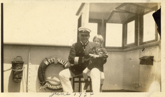 """En route to Germany on SS Westphalia, June 8, 1924"" Could this be the famous Capt. Buch?"