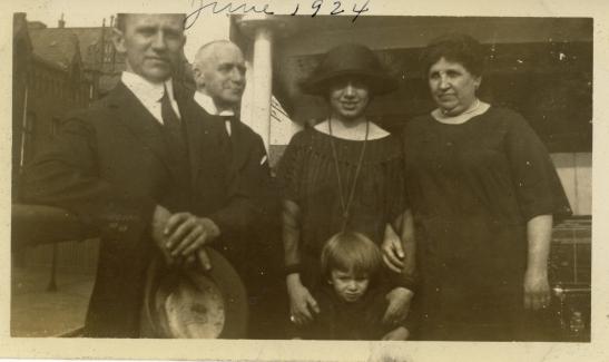 """""""On board Kehrwieder, Tender to SS Westphalia, June 26, 1924"""""""