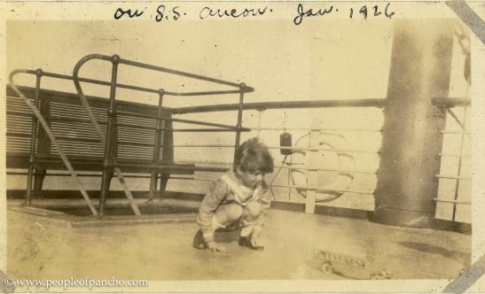 On SS Ancon, Jan. 18 1926, En route to Port Au Prince
