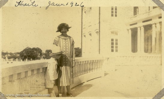 On Veranda of National Palace, Port Au Prince, Haiti, Jan. 19, 1926
