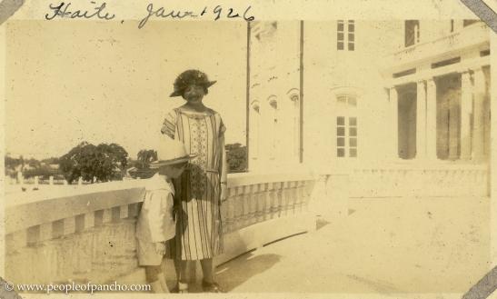 On Veranda of National Palace, Port Au Prince, Haiti, Jan. 19, 1926
