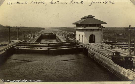 Central Tower, Gatun Locks, Jan. 1926