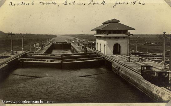 Central Tower, Gatun Locks, Jan. 1926
