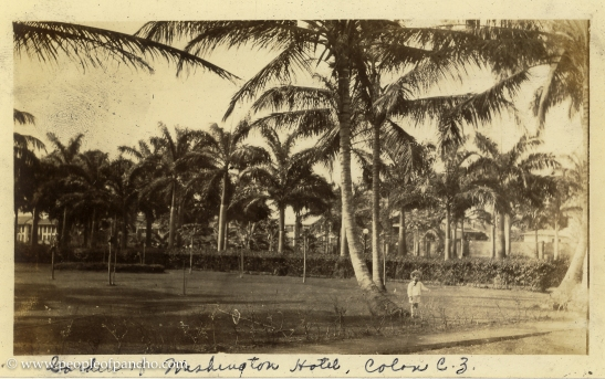Garden of Washington Hotel, Colon CZ, Jan. 1926
