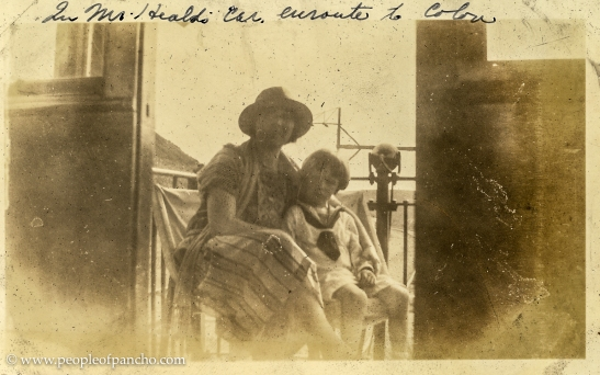 In Mr. Heald's car en route to Colon, Panama Railroad, 1926