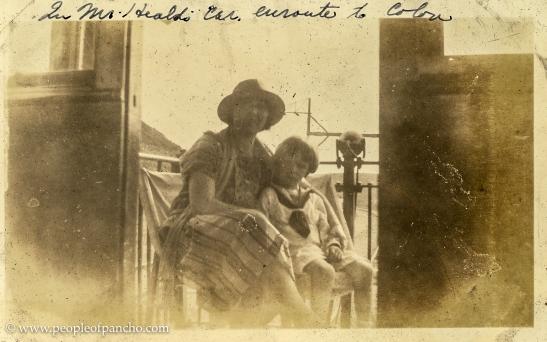In Mr. Heald's car en route to Colon, Panama Railroad, 1926