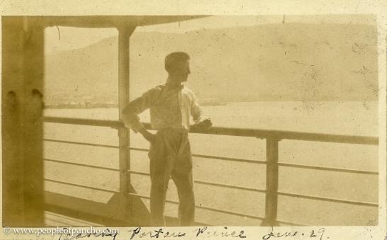 Leaving Port au Prince, Jan. 29, 1926
