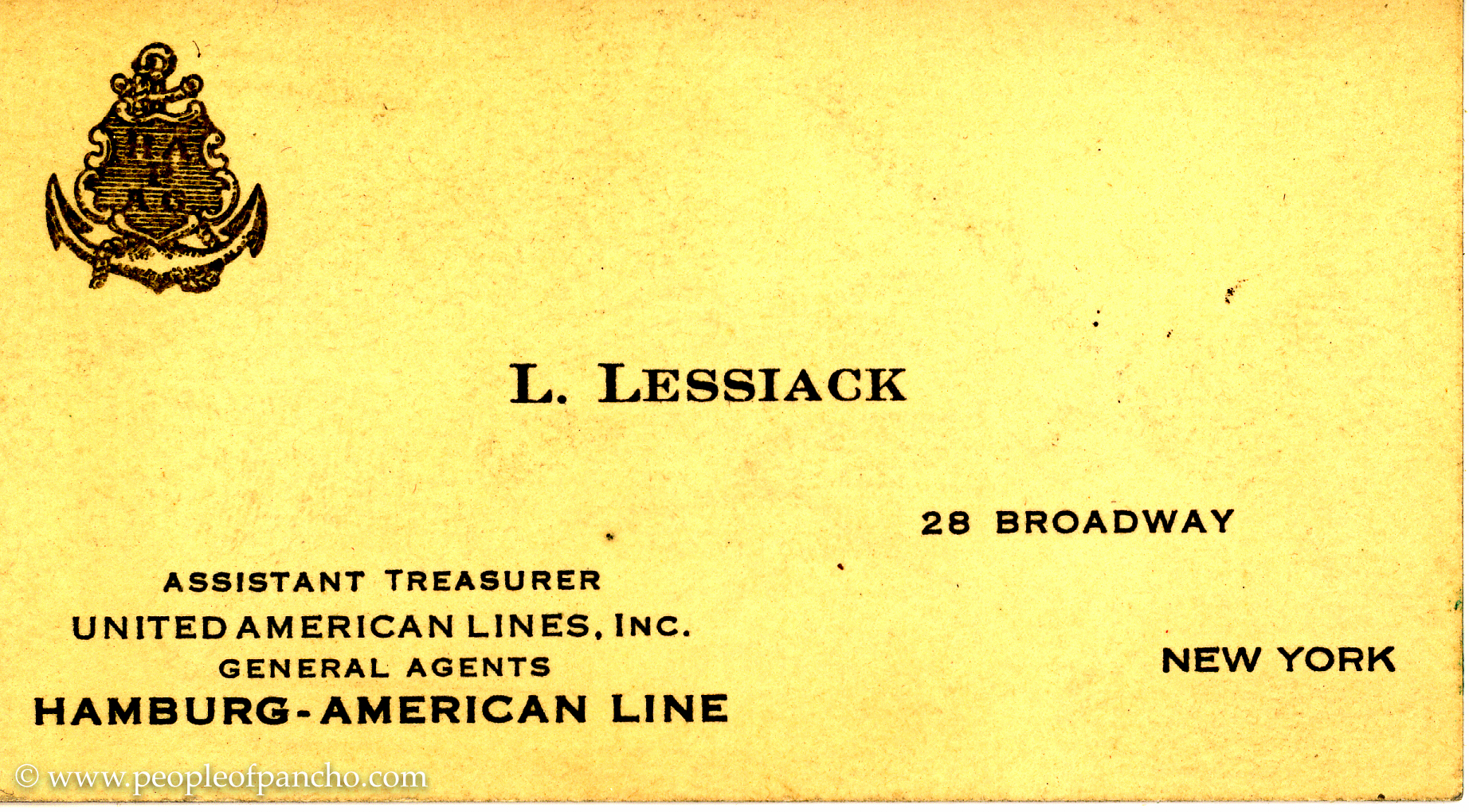 Leo at work the people of pancho great grandpa leo lessiacks business card year unknown reheart Image collections